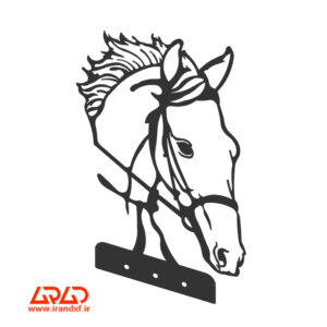 فایل برش لیزر دکور اسب