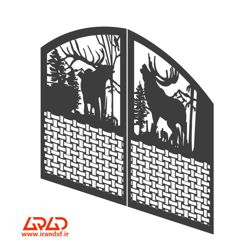فایل برش لیزر درب باغ ویلا 2030