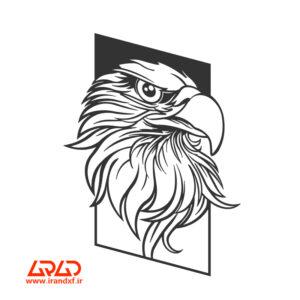 فایل برش لیزر دیوارکوب عقاب